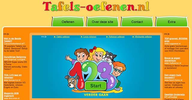 Tafels for Www tafel oefenen nl