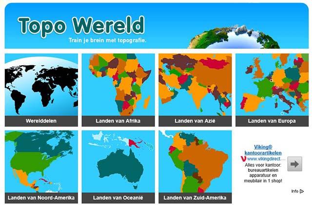 Afbeeldingsresultaat voor topo wereld
